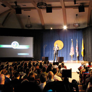 State of the Rail Address in Mission Memorial Auditorium